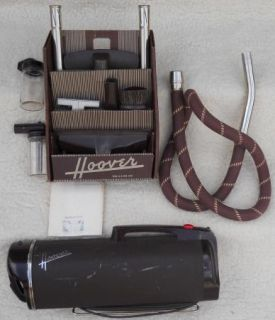 Vintage Hoover Vacuum 40s Model 50 Original Box of Accessories, Hose