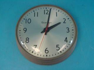 Vtg Simplex A107 Wall Mount School Electric Wall Mount Clock 13