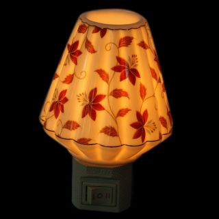 shade ceramic night light introduction with this flower folding shade