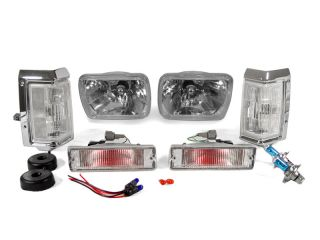 1988 1989 NISSAN PICKUP TRUCK CLEAR SEALED BEAM HEADLIGHTS + BUMPER