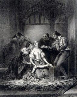 Achille Deveria Ladyjane Grey Romantism Printed Canvas