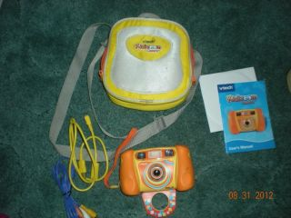Vtech Kidizoom digital camera w case software and accessories
