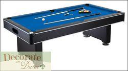 Pool Table Set 8 ft Billiards Harvil Hustler Game MDF Table Balls Cues