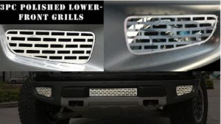 Ford F 150 Raptor 2010 12 Stainless Steel Grilles Lower Front Brushed