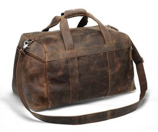 Leather Duffle Bag Travel Case Overnight Gym Sports Carry On