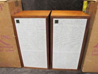 Vintage Acoustic Research AR 4X Walnut Speakers with Boxes