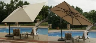 Square Patio Pool Outdoor Umbrella Olefin Acrylic Shade Cover