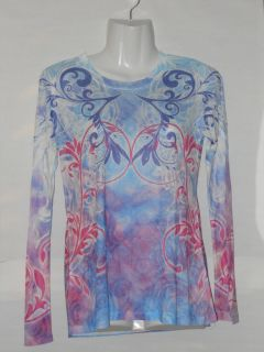 Laura Ashley Ladies Active Sublimation Top Size Small
