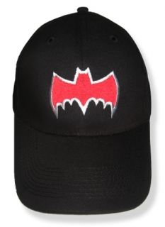 Batman Red Bat Logo Embroidered Cap Adam West 1966 Hat