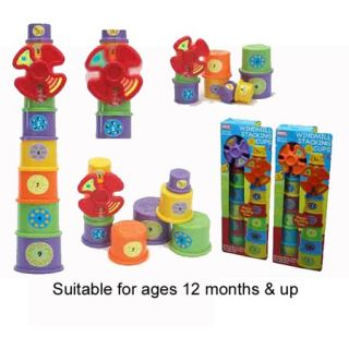 LEARNING CUPS Set of 8 Baby Toddler Nesting Activity Tower TOY New