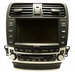 Acura TSX Navigation GPS Radio 6 Disc Changer CD Player 7KP0 Display