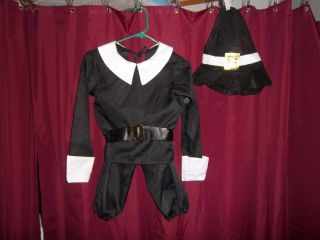 Addams Family Wednesday Pilgrim Halloween Costume Child Size 4 6