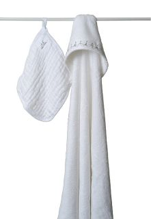 Aden Anais Hooded Towel Washcloth Set Water Baby