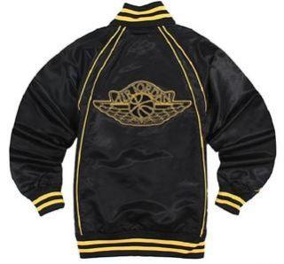 Mens Nike Air Jordan Alpha Omega Mens Full Zip Basketball Jacket Black
