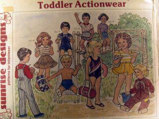 pattern toddler boy girl ACTIONWEAR swimsuits leotard shorts 1 4yr