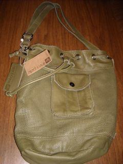 Linea Pelle Addison Green Bucket Leather Handbag