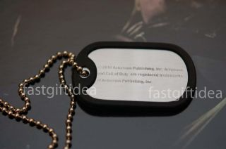 Official Call of Duty Black Ops Military Army Dog Tag