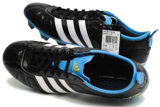 New Adidas adiPURE IV TRX FG Mens Soccer Cleats, Black & Blue