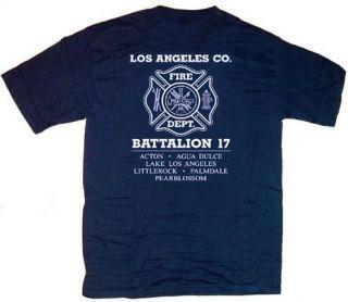 Los Angeles County Fire Dept Battalion 17 T Shirt 4XL