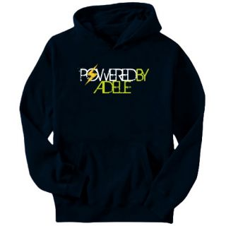 Powered by Adele Female Names Mens Hoodie Navy Blue