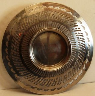 Antique Adelphi Silver Co Double Bowl Serving Tray Quadruple Plate 276