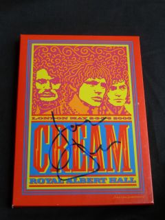 Jack Bruce SIGNED 2005 Cream Reunion DVD! Eric Clapton Ginger Baker