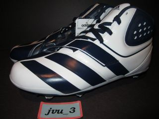 Adidas Malice D Football Cleats Sz 12 DS White Collegiate Navy 2011