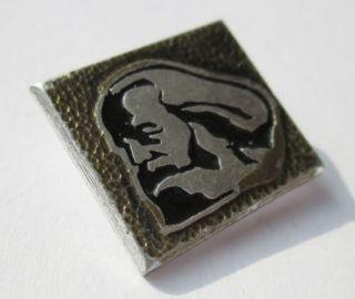 Karl Marx German Communist Soviet Russian Propaganda Pin Badge USSR