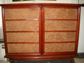 Piece RCA Stereo Console 1959 with Satellite Speaker All Tubes