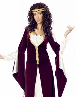 Womens Burgendy Greek Roman Goddess Princess Adult Halloween Costume