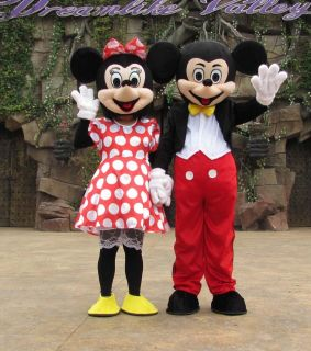 Mickey Minnie Couple Mouse Mascot Costume Adult Size
