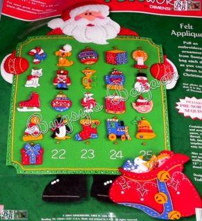 Santas Toys Countdown Christmas Advent Calendar Felt Kit