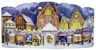 1947 cathedral german advent calendar this is a new reprint of the