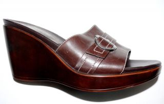 Whats What by Aerosoles Womens Sz 7 M Sandals Leather Platform Shoes