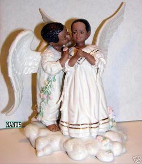 Lenox African American Angel Kisses Figurine Newnboxcoa