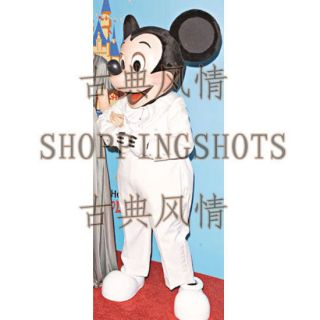 Cartoon Mickey Mouse Mascot Costume Fancy Dress R00327 Adult One Size