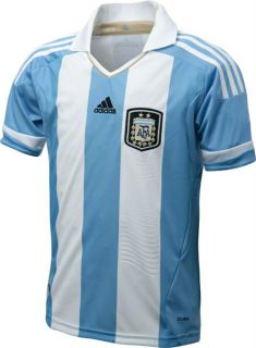 Argentina Youth Adidas Soccer Home Jersey