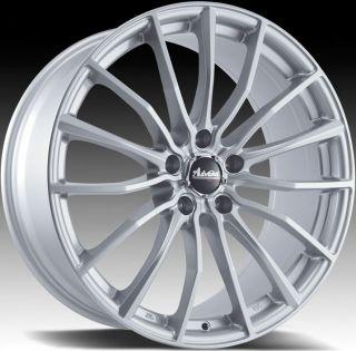 17x7 Advanti Racing Lupo 5x100 45 Silver Rims Wheels