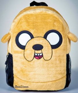 New Adventure Time Finn and Jake Dog Plush Backpack Book Bag Back to