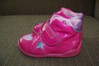 euc agatha ruiz de la prada infant girl pink heart star shoes boots