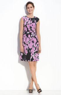 Adrianna Papell Floral Print Twill Dress Sz 12