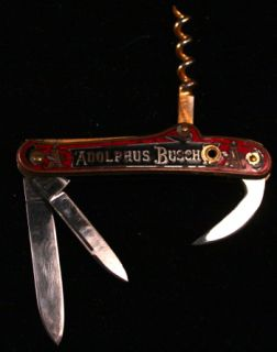 Antique Adolphus Busch Shrade & Kastor Bros. Pocket Knife (2)