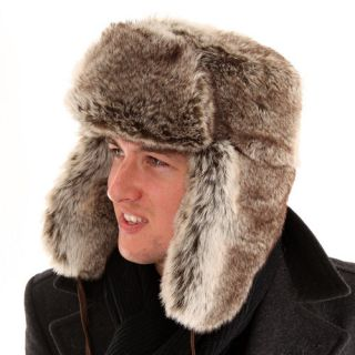 Adults Full Faux Fur Thermal Trapper Hat Mens Ladies Russian Winter