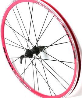 Vuelta Aeromax Wheelset Road Bike 700c 700 Aero Shimano QR Pink