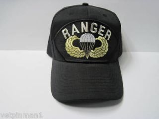 US Army Airborne Ranger Jump Wings Parachute Badge Paratroop Ball Cap
