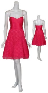 Aidan Mattox Charming Pink Silk Cocktail Dress 8 New