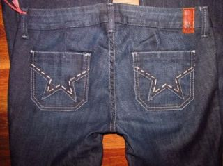 Womens Peoples Liberation Janis Flare Low Rise Button Fly Jeans 25 x