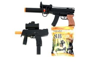 2X Spring Airsoft Gun Combo Set SMG MP9 TMP and 5 000 BBs