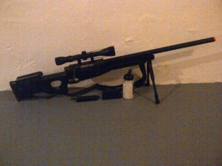 WELL L96 Airsoft Sniper Rifle REAL SCOPE BIPOD FREE BBs and MORE