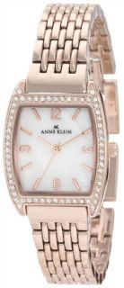 AK Anne Klein Womens 10 9726MPRG Swarovski Crystal Rosegold Tone